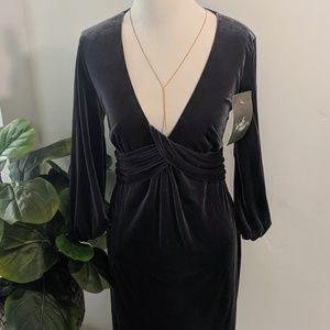 Laundry By Design Deep V Velvet Dress NWT